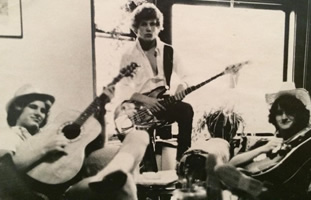 Dave in HS with his Red River Band