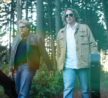 Frank and Dave walking